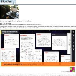 Une carte conceptuelle pour préparer un exposé oral