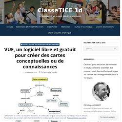 VUE, un logiciel libre et gratuit pour créer des cartes conceptuelles ou de connaissances – ClasseTICE 1d