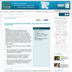 L'Agence nationale des Usages des TICE - Les cartes conceptuelles numériques : des outils pour évaluer et comprendre