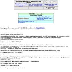 Anisakis - Archives de la liste HYGIENE concernant la pêche et l'aquaculture
