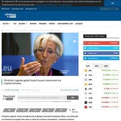 Christine Lagarde garde l'esprit ouvert concernant les cryptomonnaies