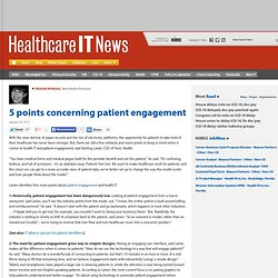 5 points concerning patient engagement and health IT