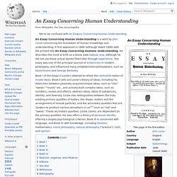 An Essay Concerning Human Understanding - Wikipedia