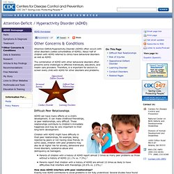ADHD, Other Concerns & Conditions - NCBDDD