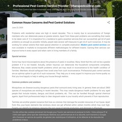 Common House Concerns And Pest Control Solutions