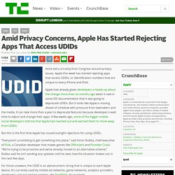 Amid Privacy Concerns, Apple Has Started Rejecting Apps That Access UDIDs