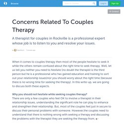 Concerns Related To Couples Therapy