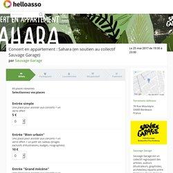 Concert en appartement : Sahara (en soutien au collectif Sauvage Garage)