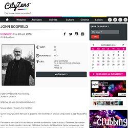 Concert JOHN SCOFIELD à Paris
