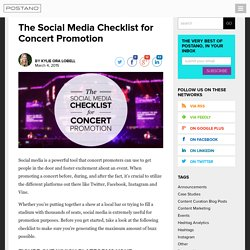 Concert Promotion Ideas - Postano