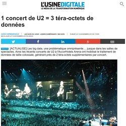 1 concert de U2 = 3 téra-octets de données