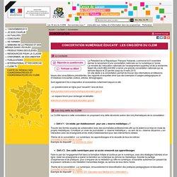 Concertation numérique éducatif. 5 défis du CLEMI