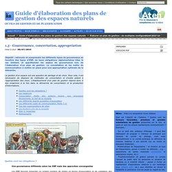 1.3 - Gouvernance, concertation, appropriation