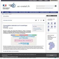 Concertation nationale sur le numérique éducatif - ac-creteil.fr