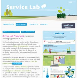 Service Lab, la plate-forme de concertation et d'innovation sociale & territoriale participative