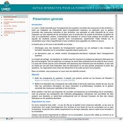 Outils interactifs pour la formation à la concertation - Présentation générale
