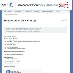 Rapport de la concertation