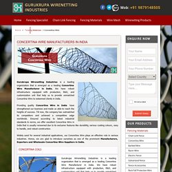 Concertina Wire Suppliers India