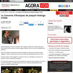 Le Concerto d'Aranjuez de Joaquín Rodrigo (1939)