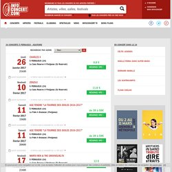 Tous les concerts à Perigueux - Aquitaine