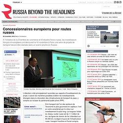 Concessionnaires européens pour routes russes