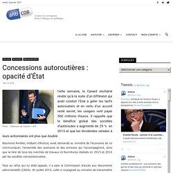 Concessions autoroutières : opacité d'État