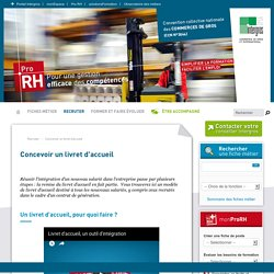 Concevoir un livret d'accueil - Intergros - PRO RH