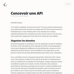 Concevoir une API