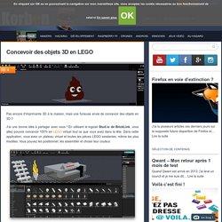Concevoir des objets 3D en LEGO
