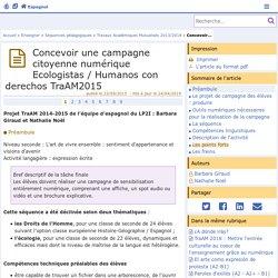 Concevoir une campagne citoyenne numérique Ecologistas / Humanos con derechos- Espagnol