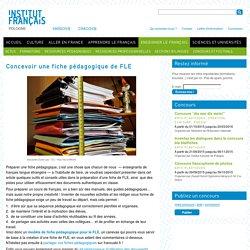 Concevoir une fiche pédagogique de FLE / Institut français