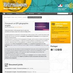 Concevoir un EPI géographie-anglais