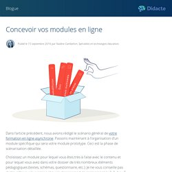 Concevoir vos modules en ligne - Didacte