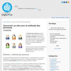 Concevoir un site avec la méthode des personasDigital Ice