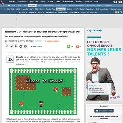 Bitmelo : un éditeur et moteur de jeu de type Pixel Art qui vous permet de concevoir de petits jeux pixelisés en JavaScript