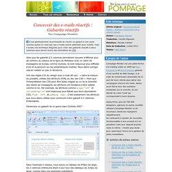 Concevoir des e-mails réactifs : Gabarits réactifs
