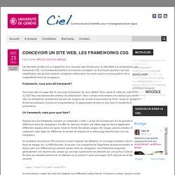Concevoir un site web, les frameworks CSS