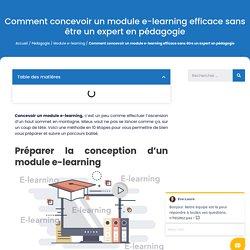 Comment concevoir un module e-learning efficace sans être un expert en pédagogie - Videolearning