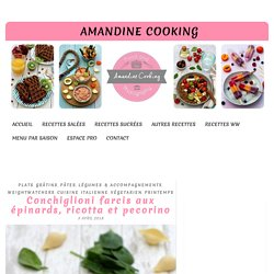 Conchiglioni farcis aux épinards, ricotta et pecorino
