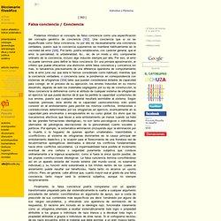 Falsa conciencia / Conciencia / Diccionario filosófico