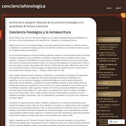 Relacion de la conciencia fonologica y el aprendizaje de lectura y escritura