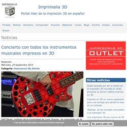 Concierto con todos los instrumentos musicales impresos en 3D