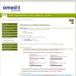 Conciliation Médicamenteuse - Site OMEDIT Bretagne
