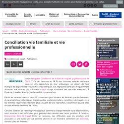 Conciliation vie familiale et vie professionnelle