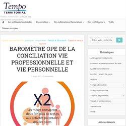 BAROMÈTRE OPE DE LA CONCILIATION VIE PROFESSIONNELLE ET VIE PERSONNELLE