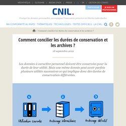 Comment concilier les durées de conservation et les archives