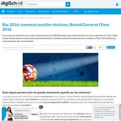 Bac 2016: comment concilier révisions, Roland Garros et l'Euro 2016?
