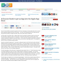 A Concise Guide to get an App into the Apple App Store