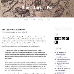 The Conclave Chronicles – Roma Locuta Est