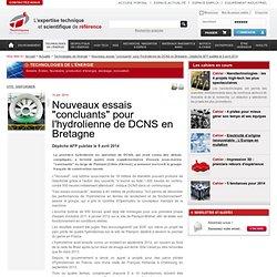 """Nouveaux essais """"concluants"""" pour l'hydrolienne de DCNS en Bretagne"""